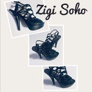 Zigi Soho Strappy Studded Platform Heels Size 8